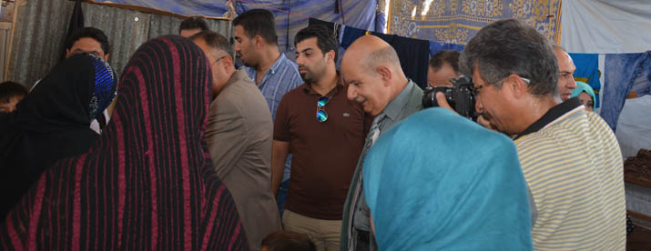 Public Health visiting Nabi Sheet camp for IDPs